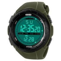Часы Skmei 1025, армейский зеленый, в металлическом боксе