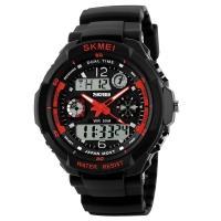 Часы Skmei 0931, черный-красный, в металлическом боксе