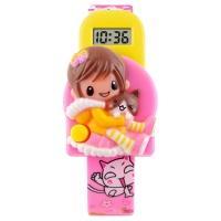 Часы детские Skmei Девочка 1240, розовые, в металлическом боксе