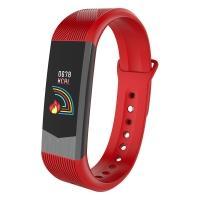 Часы, смарт-браслет Skmei B30, красные, в металлическом боксе