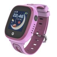 Часы детские, смарт-браслет Skmei DF31G, розовые, в металлическом боксе
