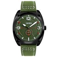 Часы кварцевые Skmei 9155, зеленые, в металлическом боксе