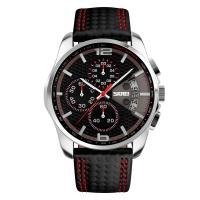 Часы Skmei 9106, красные, в металлическом боксе