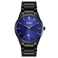 Часы кварцевые Skmei 9140, синие, в металлическом боксе