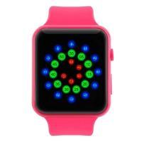 Часы LED Skmei 1176B, розовые, в металлическом боксе