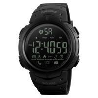 Часы, смарт-браслет Skmei 1301, черные, в металлическом боксе