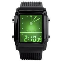Часы LED Skmei 0814, черные, в металлическом боксе