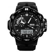 Часы Skmei 1081, черные, в металлическом боксе