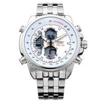 Часы Skmei 0993, серебристые, в металлическом боксе