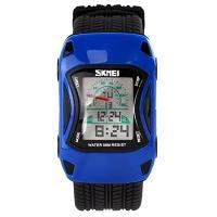 Часы детские Skmei Авто 0961, синие, в металлическом боксе