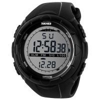 Часы Skmei 1025, черные, в металлическом боксе