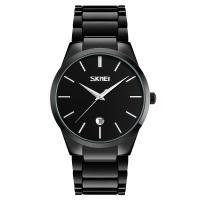 Часы кварцевые Skmei 9140, черные, в металлическом боксе
