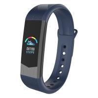 Часы, смарт-браслет Skmei B30, синие, в металлическом боксе