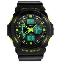 Часы Skmei 0955, черный-зеленый, в металлическом боксе