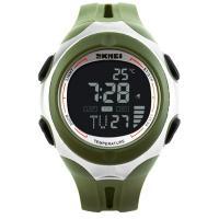Часы Skmei 1080, зеленые с черным циферблатом, в металлическом боксе