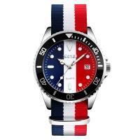 Часы кварцевые Skmei 9133, синий/белый/красный, в металлическом боксе