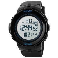 Часы Skmei 1127, черный-синий, в металлическом боксе