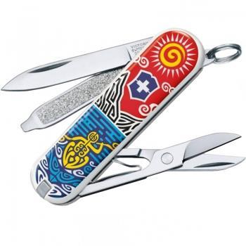 Нож складной, мультитул Victorinox Classic LE New Zealand (58мм, 7 функций) 0.6223.L1806