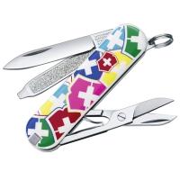 Нож складной, мультитул Victorinox Classic Vx Colors (58мм, 7 функций), с чехлом 0.6223.841