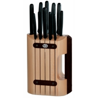 Набор кухонных ножей Victorinox (11 предметов) с подставкой, черный 5.1153.11