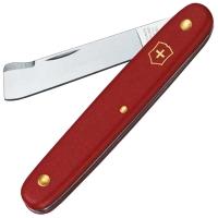 Нож складной, садовый Victorinox (100мм, 2 функции), красный 3.9020