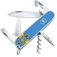 Нож складной, мультитул Victorinox Spartan Ukraine Герб (91мм, 12 функций), белый 1.3603.7R6
