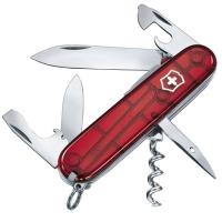 Нож складной, мультитул + LED Victorinox Spartan Lite (91мм, 15 функций), красный прозр. 1.7804.T