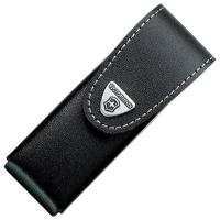 Чехол для ножей Victorinox (111мм, 6 слоев) кожаный, на липучке, пов. клипом, черный 4.0524.31