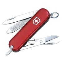 Нож складной, мультитул Victorinox Signature (58мм, 7 функций), красный 0.6225
