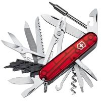 Нож складной, мультитул Victorinox Cybertool (91мм, 41 функция), красный прозр. 1.7775.T