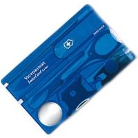 Набор Victorinox Swisscard Lite (82х54х4мм, 13 функций), синий прозр. 0.7322.Т2