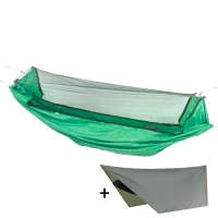 Hammock with mosquito net + canopy Levitate Mosquito, green
