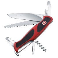 Нож складной, мультитул Victorinox Rangergrip 55 (130мм, 12 функций), красно-черный 0.9563.C