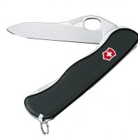 Нож складной, мультитул Victorinox Sentinel One Hand (111мм, 4 функций), черный 0.8413.M3