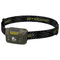 Фонарь налобный Nitecore NU30 (Сree XP-G2 S3, 400 люмен, 6 режимов, USB), army green