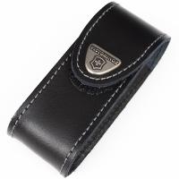 Чехол кожаный Victorinox (84-91мм, до 4х слоев), чёрный, на липучке 4.0520.3