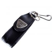 Чехол Victorinox (58мм), с карабином, кожаный, черный 4.0515