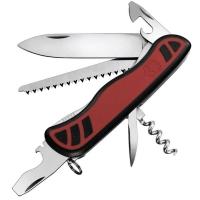 Нож складной, мультитул Victorinox Forester (111мм, 10 функций), красно-черный 0.8361.C